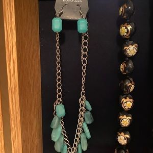 paparazzi Jewelry - Teal earring necklace set